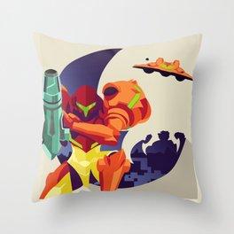 Return - Metroid Throw Pillow
