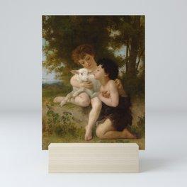 """William-Adolphe Bouguereau """"Les Enfants à L'Agneau (Children With the Lamb)"""" Mini Art Print"""
