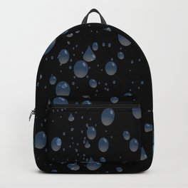 Water drops with background Backpack