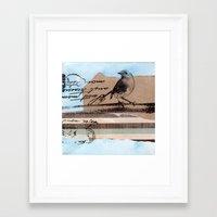 birdy Framed Art Prints featuring Birdy by zAcheR-fineT