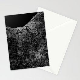 Cleveland map Ohio Stationery Cards