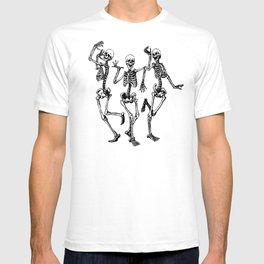Three Dancing Skulls T-Shirt