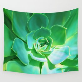 GREEN SUCCULENT Wall Tapestry