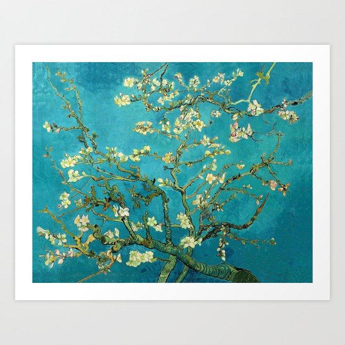 Vincent Van Gogh Blossoming Almond Tree Art Print