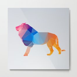 Glass Animal Series - Lion Metal Print