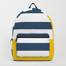 Navy and yellow stripes Backpack