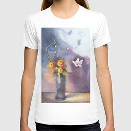 Dancing Shadows Floral T-shirt