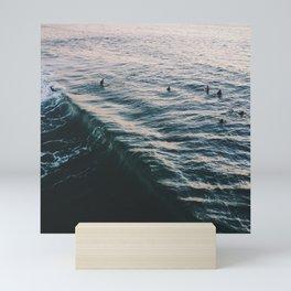 Searching the Surf Mini Art Print