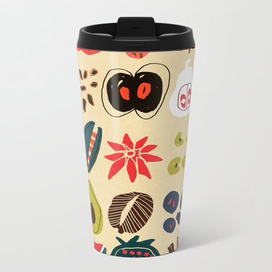 Fruit and Spice Rack Metal Travel Mug