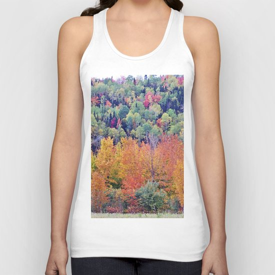 Paint By Nature - Fall Foliage Unisex Tank Top