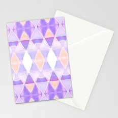 Art Deco Triangles Light Purple Stationery Cards