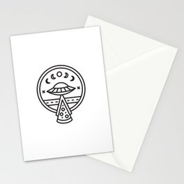 We Come in Pizza Stationery Cards
