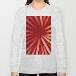 Intersecting-Red Long Sleeve T-shirt