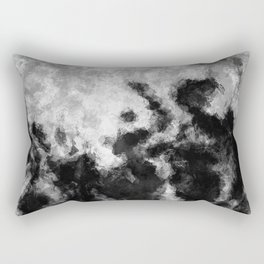 Black and White Minimalist Abstract Painting Rectangular Pillow
