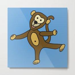 © Little Monkey dancing Metal Print