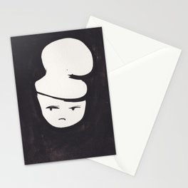 Catty Does Not Approve   | 181218 Faces Watercolour Kawaii Stationery Cards