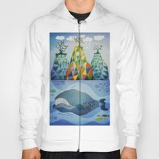 Traveling whale Hoody