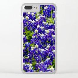 Texas Bluebonnets Clear iPhone Case