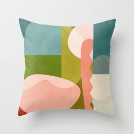 shapes geometry art mid century Throw Pillow