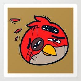 Battered Bird II Art Print