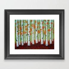Atumn Birch trees - 5 Framed Art Print