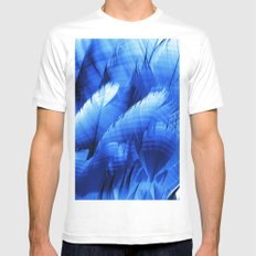 feathers Mens Fitted Tee MEDIUM White