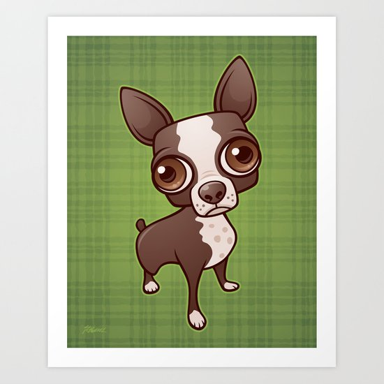 Zippy the Boston Terrier Art Print