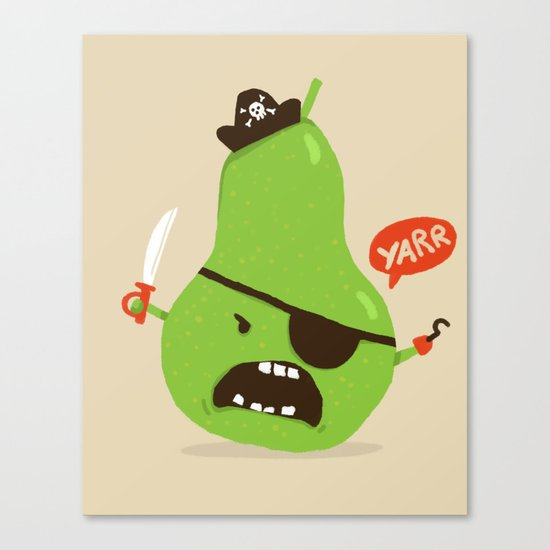 Pear-ate a.k.a The Angry Pirate Canvas Print