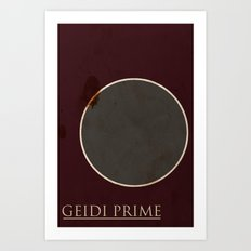 Geidi Prime Art Print