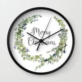 Eucalyptus Wreath Wall Clock