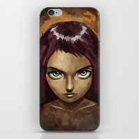 raven iPhone & iPod Skins featuring Raven by Freeminds