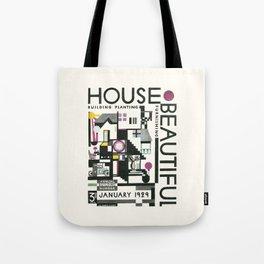 House Beautiful January 1929 Tote Bag