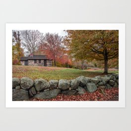Babson Museum on a rainy October day 10-24-18 Art Print