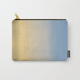 Wind Brush Sunset (Blue and Gold) Carry-All Pouch