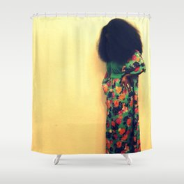 Afro : Vintage Style Shower Curtain