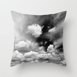 Black and White Sky Throw Pillow
