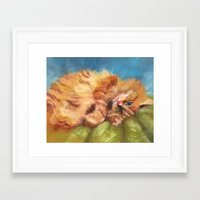gizmo Framed Art Prints featuring Gizmo by Liz Thoresen
