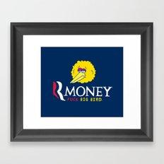 Romney VS Big Bird Framed Art Print