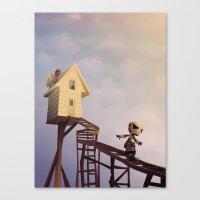 robots Canvas Prints featuring robots by Alevan
