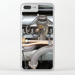 Six Cylinder Vintage Engine Clear iPhone Case