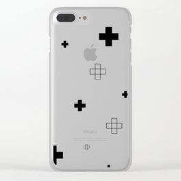 Cross Cross White Clear iPhone Case