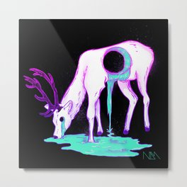 Drippy Deer Metal Print