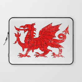 Welsh Dragon With Grunge Laptop Sleeve
