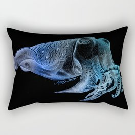 Cuttlefish in Black and Blue Rectangular Pillow