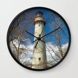 Gross Point Lighthouse Evanston Illinois Lake Michigan Wall Clock