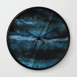 Dark blue Wall Clock