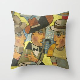 Haines, Stephen Dedalus and Buck Mulligan Throw Pillow