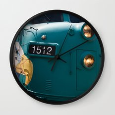 Train In Your Face Wall Clock