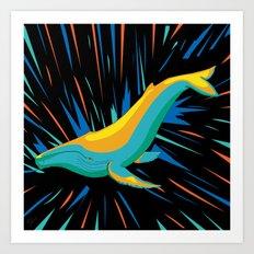 Electric Organisms - Whale Art Print