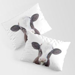 Baby Cow Portrait Pillow Sham